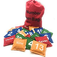 Oojami Number Beanbags Assorted 20 pc