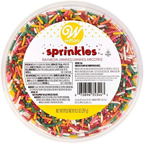 Wilton Jimmies Sprinkles 10.5oz Tub-Rainbow