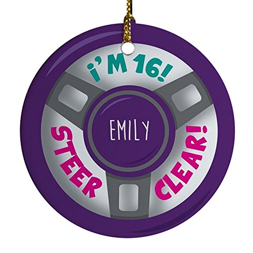 GiftsForYouNow New Driver Personalized Christmas Ornament, 2.75', Ceramic