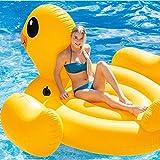 KDKDA Flotador de piscina de pato amarillo inflable gigante Flotador flotante con válvulas rápidas Gran hinchable Volar Verano Playa Piscina Salón de fiestas Decoraciones en balsa Juguetes Niños Adult