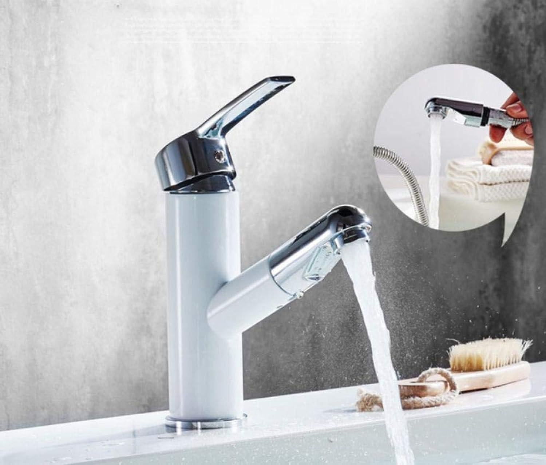 Wasserhahn Antike Messing Ausziehbare Badezimmer Deck Montiert Vanity Sink Heien Und Kalten Becken Mischbatterie Deck Montiert