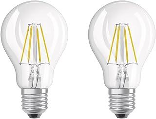 Osram Lot de 2 Ampoules LED à Filament | Culot E27 | Forme Standard | Blanc Chaud 2700K | 4W (équivalent 40W)