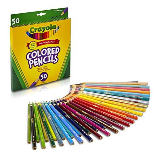 Crayola 50 lápices de colores,  proyectos artísticos y colorear