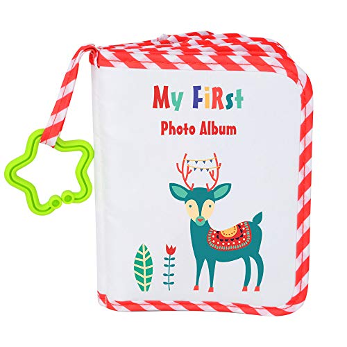 VNOM Baby Photo Album Soft Cloth Photo Book First Year Memory Album Shower Gift for Babies Newborns Toddlers & Kids,Holds 4x6 Inch Photos