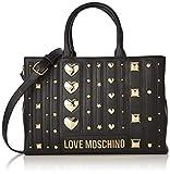 Love Moschino Borsa PU, Bolso tipo tote para Mujer, Negro (Nero), 23x32x10 centimeters (W x H x L)