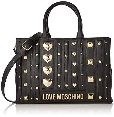 Love Moschino Borsa PU, Sac fourre-Tout Femme, Noir (Nero), 23x32x10 Centimeters (W x H x L)