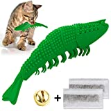 Litthing Cat Catnip Toys Interactive Playing Chew Toys Kitten Rubber Crayfish Shape Safe Soft For Cats Teeth...