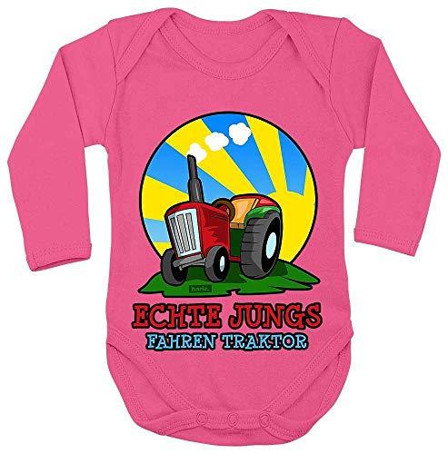 Hariz - Body para bebé, manga larga, para niños, tractor, vehículos, tractor,...
