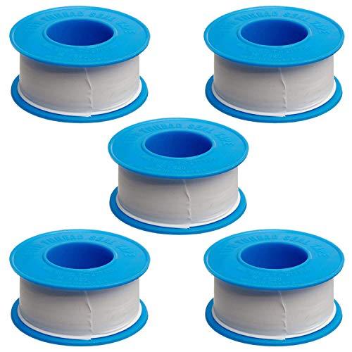 5パック20mm×15m PTFEスレッドシールテープ配管用のシーラントテープ配管用シャワーホースヘッド、合計75メートル