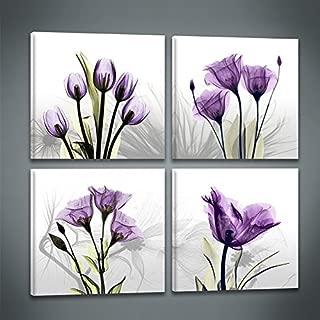 Best purple flower canvas wall art Reviews