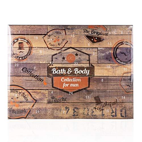 Calendrier de l'Avent de beauté Accentra pour hommes et garçons, contenu cosmétique pour les soins du corps, la peau et des parfums séduisants