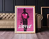 Coberusgift Alternative Drive Ryan Gosling Poster Movie Cinema Geek Wall Art Home Decor Geek Print Posters Wall Art Present Lovers Poster No Framed T1EZ (12'x18')
