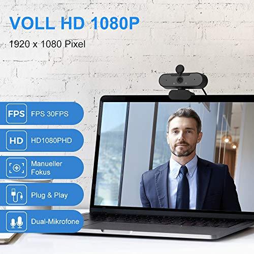 Shnvir PC Kamera 1080p Full-HD Webcam