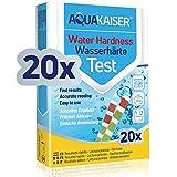 Tiras para Comprobar la dureza del Agua - Envasadas Individualmente - para Agua Potable, estanques, Piscinas y acuarios - 20 Unidades