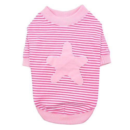 Puppia PASA-TS1601-PK-L Starfish Round Neck T-Shirt, Large