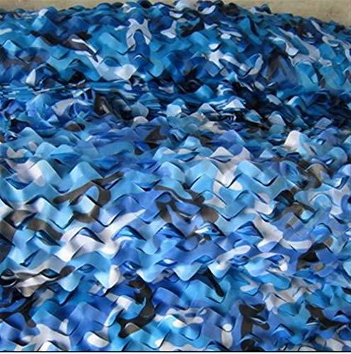 LQ-Shade Tarnnetz, himmelblaues Seeluftverteidigungsnetz eignet Sich for verdeckte Gebäude/Sonnencreme/Deko/Bergabdeckung (Color : Blue, Size : 4x6M)