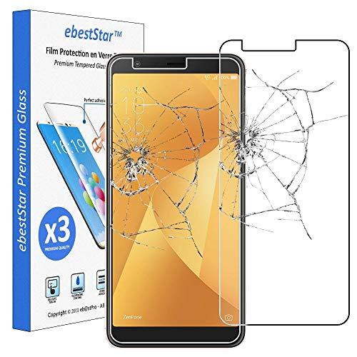 ebestStar - [Pacco x3 Vetro Temperato Compatibile con ASUS Zenfone Max Plus M1 ZB570TL Schermo Pacco da 3 Pellicole Anti Shock, Anti Rottura, Anti graffio [Apparecchio: 152.6 x 73 x 8.8mm, 5.7'']