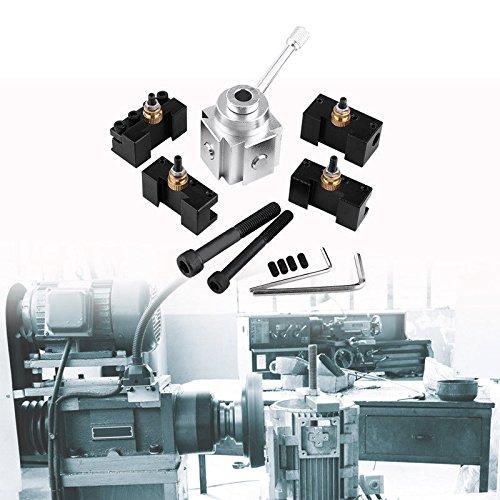 Preisvergleich Produktbild Alu Stahlhalter Multifix Schnellwechsel Set Drehstahlhalter Schnellwechselhalter