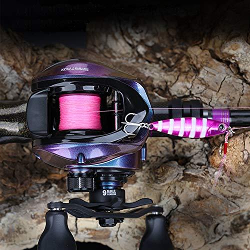 バスダッシュ(Bassdash)リールベイトリールSpiritFox軽量162gギア比6.6:1海釣りと淡水釣り両用左ハンドル