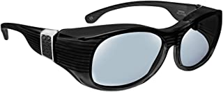 dfbcdb3db6 Haven Designer Fitover Sunglasses Sunset in Black with Grey Leather    Polarized Grey Lens (LARGE