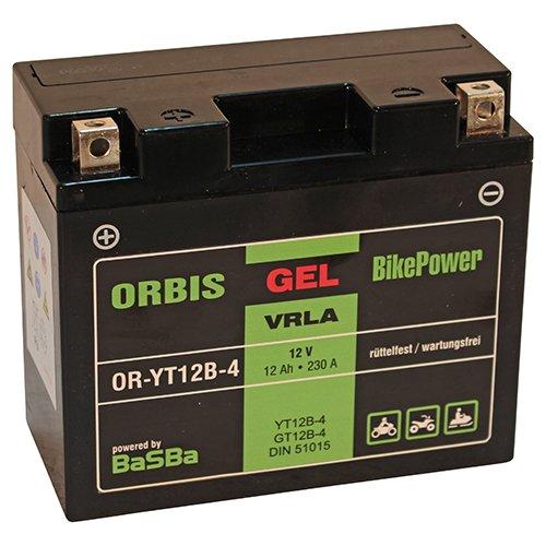 Orbis Gel12-12B-4 Motorradbatterie - YT12B-4 12 Volt 12 Ah 230 A