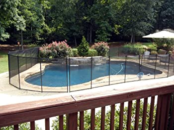 Sentry Safety Pool Fence Quality Pool Fencing 4  Tall 12  Long Removable Child Barrier Pool Safety Mesh Fence  Black