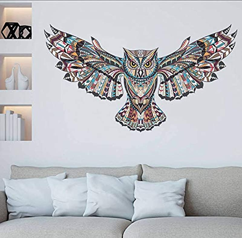 Leguliya Cartoon Owl Animal Children Baby Bedroom Wall Sticker For Kids Rooms Eagle Hawk Wall Painted Tatoo Home Decor Art Decals