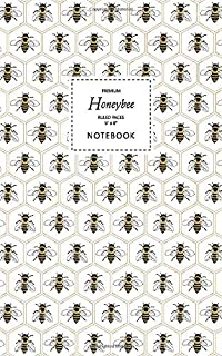 Honeybee Notebook - Ruled Pages - 5x8 - Premium: (Honey Edition) Fun bee notebook 96 ruled/lined pages (5x8 inches / 12.7x...