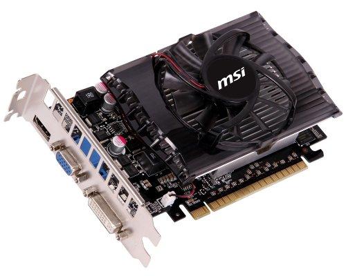 MSI NVIDIA GeForce GT 630 Grafikkarte (PCI-e, 1GB, GDDR3 Speicher, DVI, HDMI, DisplayPort, 1 GPU)