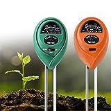 Doopro 2PCS 3-in-1 Pro Soil Moisture Meter Soil PH Tester Meter Light Intensity Illuminance Tester Plant Water Meter for Garden, Farm, Lawn, Indoor Outdoor Plants Gardening