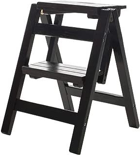 scalino di sicurezza a mezzo gradino antiscivolo Scaletta a gradino nera portatile per armadi da cucina per bagno in gravidanza per anziani 14,9 x 8,5 x 5,1 p Sgabello pieghevole con alzata a gradino