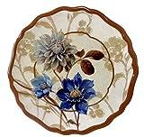 Keller Charles 6 Blue Note Melamine Hors D' Oeuvre Plates 5.9 Inches in Diameter