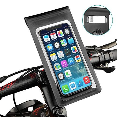 Bostar Bicicleta Soporte Movil, Protector Movil Impermeable, Bolsa Bicicleta Manillar, Universal Accesorios para Ciclismo, Bike Holder, Bolsas de Ciclismo para Movil por Debajo de 6,5 Pulgadas