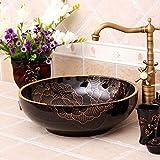 DWSS® Lavabo de cerámica Un hermoso lavabo de cerámica pintado a mano con el...