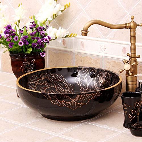 DWSS Lavabo de cerámica Un hermoso lavabo de cerámica pintado a mano con el arte Jingdezhen
