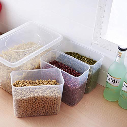 ZYCSKTL Cocina Nevera Caja de Almacenamiento plástico Fruta congelada Comida Caja de Almacenamiento sellada Tipo de cajón Caja de Almacenamiento no Calentamiento por microondas-6L, 32 * 19 * 1