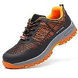 LIfav Zapatos De Seguro De Trabajo De Los Hombres, Zapatos Aislantes De Electricista Anti-Aplastamiento Y Anti-Piercing 10KV. Suela De Electricista Resistente Al Desgaste De 10Kv,Naranja,42