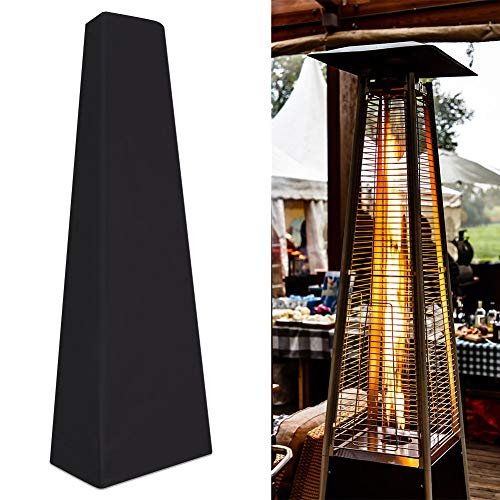 XITVVyg Patio Heater Cover, Outdoor Heater Cover, Heavy Duty Waterproof Veranda Cover for Pyramid Torch and Pyramid Flame Patio Heaters,Triangle Glass Tube Heater Cover, Full Length Protection