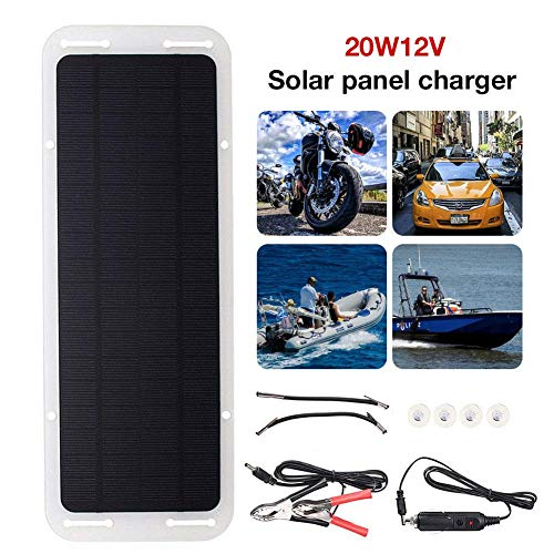 Funihut zonnepaneel, zonnepaneel, 20 W, 12 V, voor de stroomvoorziening van caravans, boot