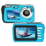 Cámara subacuática 2.7 K Full HD 48 MP cámara impermeable doble pantalla 3.0 en cámara subacuática 3.0 pies videocámara cámara selfie cámara