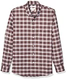 Goodthreads Standard-fit Long-Sleeve Stretch Oxford Shirt (All Hours) Camisa abotonada, Red White Check, S