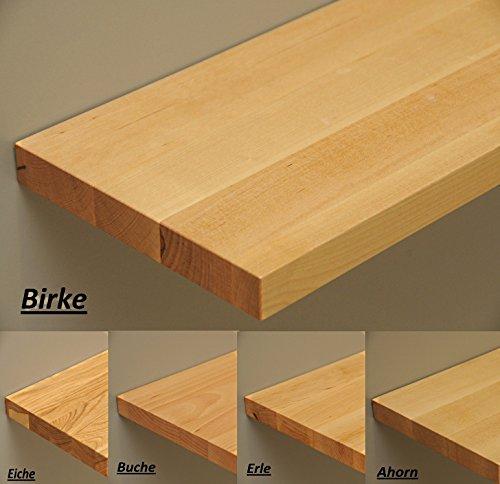 Holz-Projekt-Summer Handybord Schlüsselbord Telefonbord Ablage Konsole - Länge:30cm / Tiefe: 20cm Stärke: 25mm Schlüsselbrett Regal massiv Echtholz (Kernbuche)