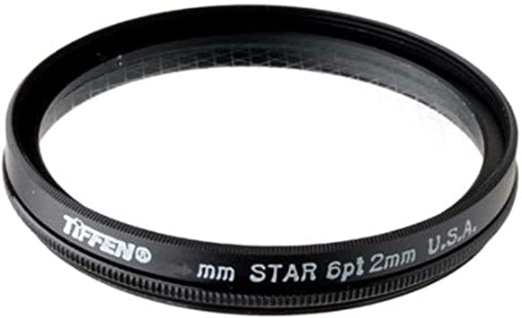Camera star cross filter 8 points for 62mm camera threads