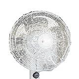 Forusky - Ventilatore elettrico rotondo da 50 x 20 cm, protezione per dita dei bambini, antipolvere per ventaglio a pavimento, ventilatore a parete, ventilatore oscillante da tavolo – bianco