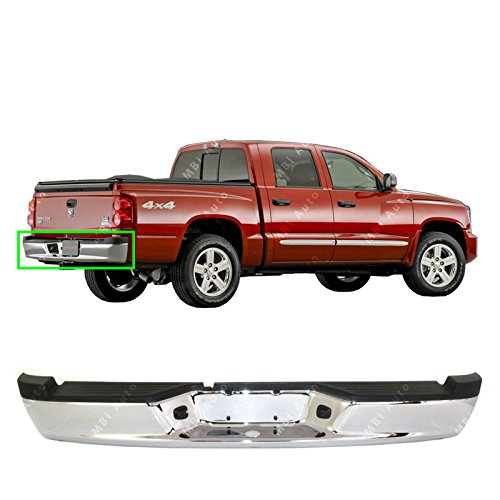 MBI AUTO - Chrome, Steel Rear Step Bumper Assembly for 2005-2011 Dodge Dakota Pickup 05-11, CH1103113