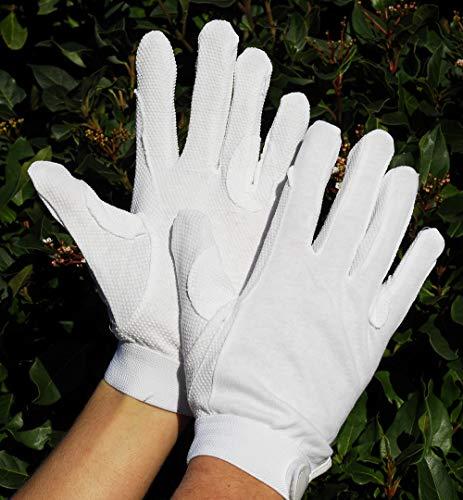 Rhinegold Cotton Pimple Gloves-Small-White Gants Mixte, Blanc, S