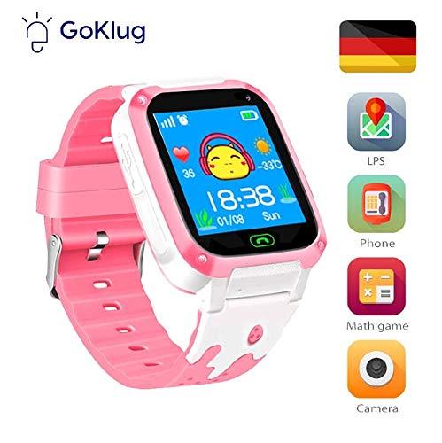 Kinderuhr Mädchen Digital Smart Watch Kinder LBS Ortung Telefon Rosa Smartwatch Mit Spiele Kinder Handy Kinderuhr Anruf Funktion Schrittzähler Pink Kindertelephon Mit SIM Kart Für Klein Kinder