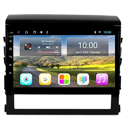 Estéreo de coche Sistema de navegación GPS Sat Nav, 2 + 32Gb 9 pulgadas Android 8.1 Car Multimedia para Toyota Land Cruiser 2016-2018 Car, Radio Navegación con micrófono integrado, WIFT/1 + 16G
