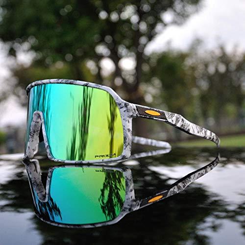 Marca de los hombres polarizados ciclismo gafas de bicicleta de montaña gafas de bicicleta deportes al aire libre bicicleta gafas de sol carretera gafas lente