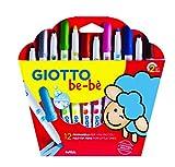 Giotto be-bè 466700 - Estuche 12 rotuladores súper lavables, punta bloqueada...